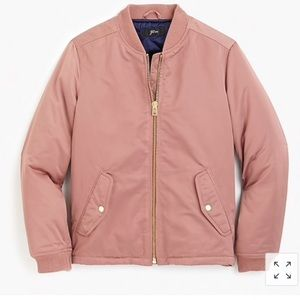 NWT j.crew bomber jacket with side zipper